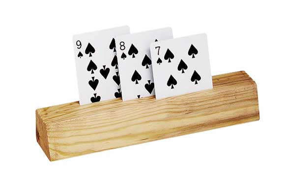 Wooden Playing Card Holder