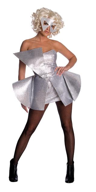 Lady Gaga Silver Sequin Dress