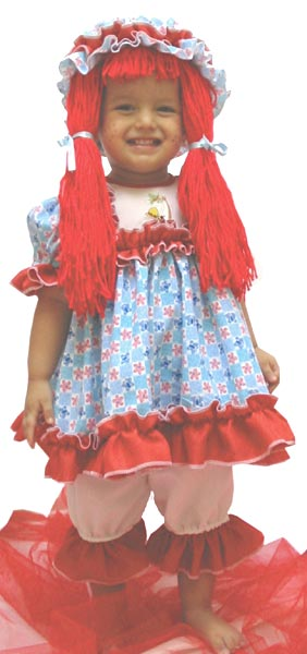 Toddler Deluxe Rag Doll Costume