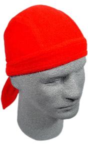 Solid Red Fleece Skull Cap