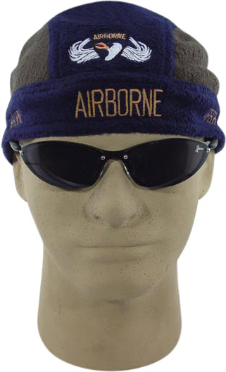 a06209a8b63 Embroidered Airborne Fleece Skull Cap