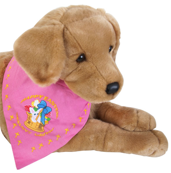Happy Easter Pink Doggie Bandanna