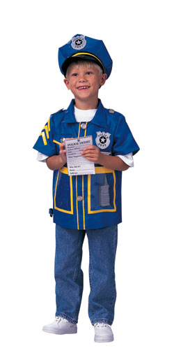 Child's Police Officer Dress-Up Outfit