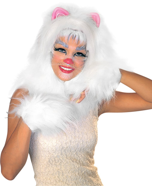 White Cat Musical Costume Wig
