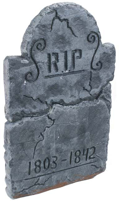 3' RIP Dome Halloween Fake Tombstone