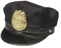Police Hat w/ Badge