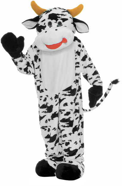 Adult Deluxe Cow Mascot Costume