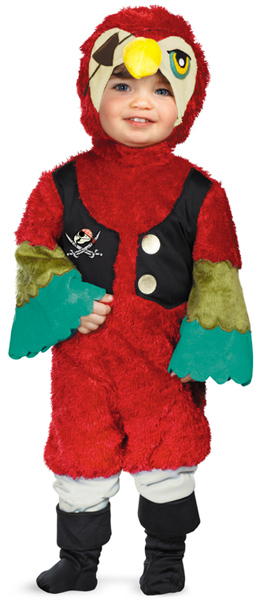 Toddler One-Eyed Pirate Parrot Costume
