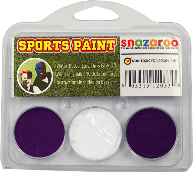 Purple White Purple Face Paint Kit for Sports Fans