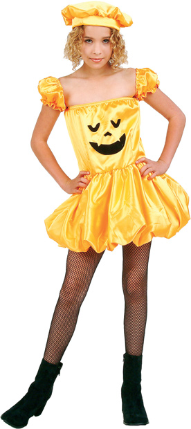 Child's Jack-O-Lantern Dress Costume