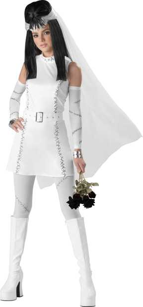 Teen Bride of Frankenstein Costume