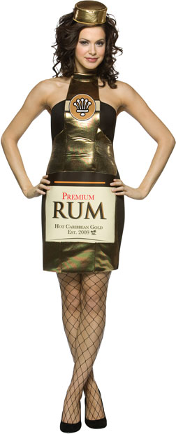 Adult Sexy Rum Bottle Costume