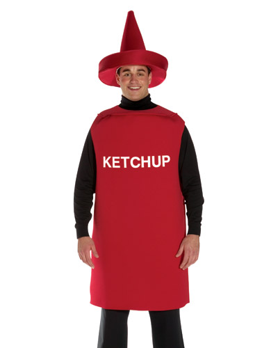 Adult Ketchup Bottle Costume