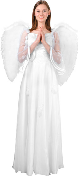 Adult Large White Feather Angel Wings
