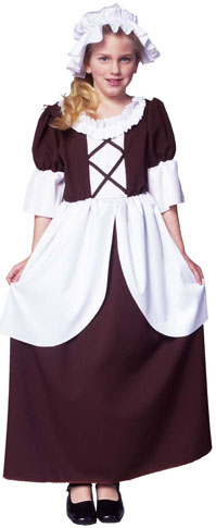 Child's Colonial Girl Costume