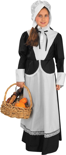 Child's Puritan Girl Costume