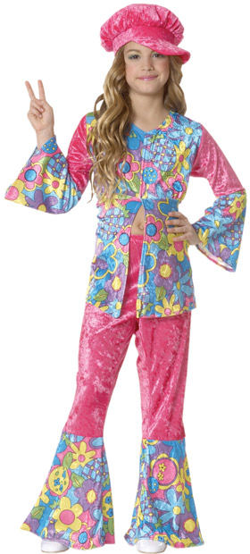 Child's Flower Power Hippie Costume