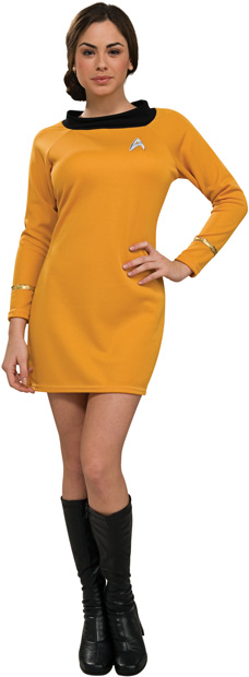 Woman's Star Trek Deluxe Classic Gold Costume Dress