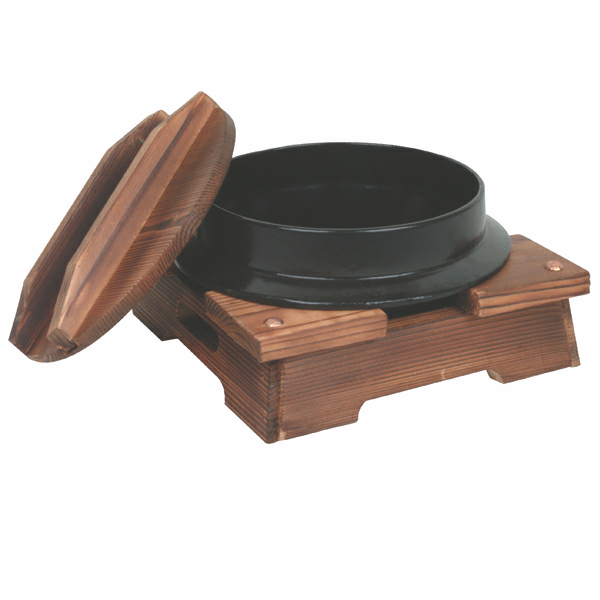 Japanese Stew Bowl with Wooden Stand
