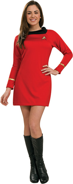 Woman's Star Trek Deluxe Classic Red Costume Dress