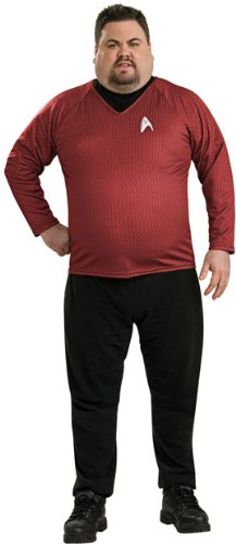 Men's Plus Size Star Trek Deluxe Red Shirt Costume
