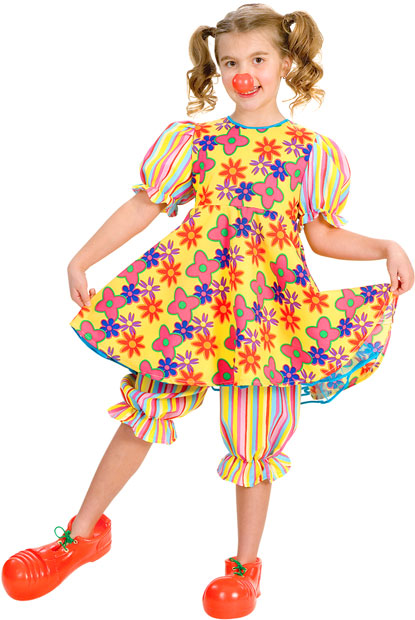 Child's Clown Dress Costume