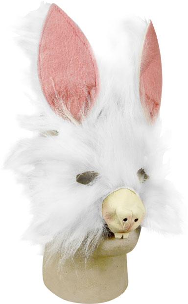 Plush Bunny Costume Face Mask