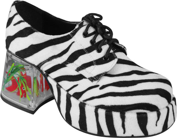 Women's Zebra Fish Tank Platform Shoes