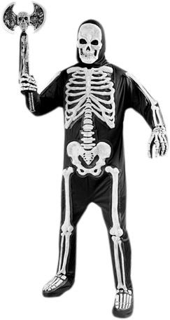 Adult Deluxe Skeleton Costume
