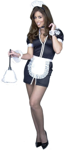 Double Zip French Maid Costume