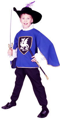 Child's Blue Musketeer Costume