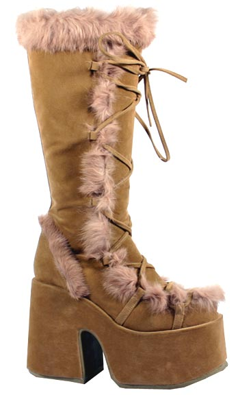 Sexy Tall Faux Suede Indian Boots
