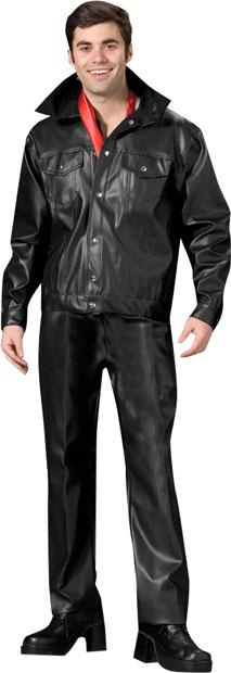 70s Pleather Two Piece Theater Plus Size Costume