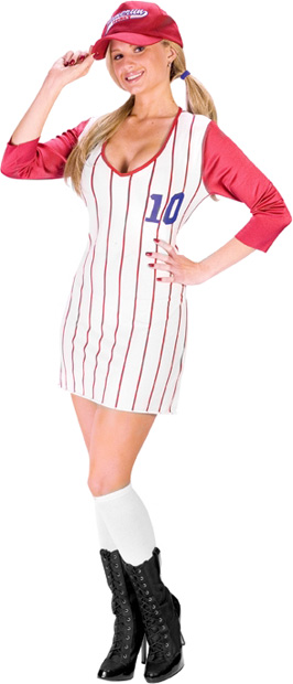Women's Home Run Honey Baseball Costume