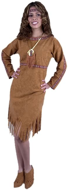Adult Indian Princess Lady Costume
