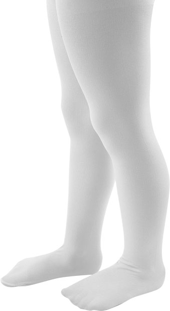 Infant White Nylon Tights