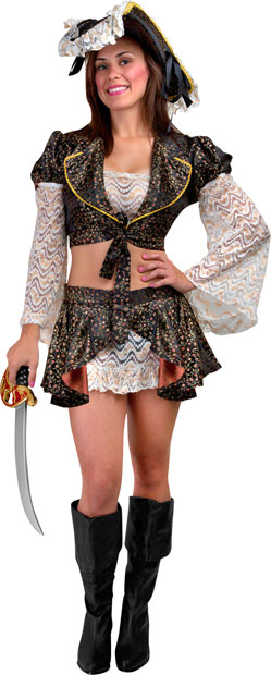 Teen Sexy Caribbean Pirate Costume