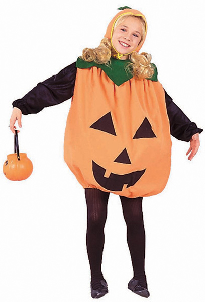 Child's Pumpkin Dress Costume