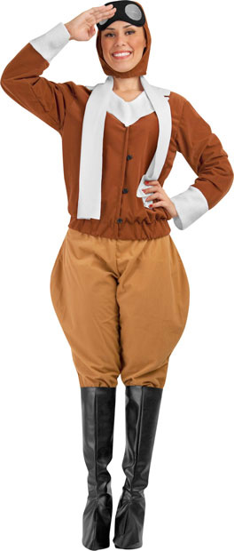 Adult Vintage Pilot Costume  sc 1 st  Brands On Sale : aviatrix costume  - Germanpascual.Com