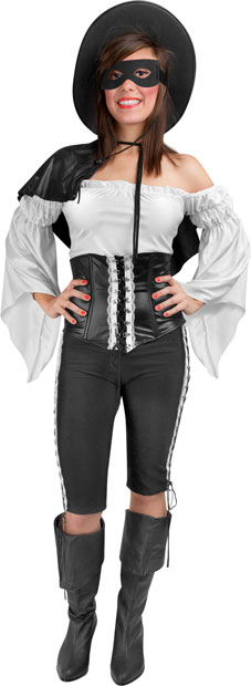 Teen Women's Zorro Costume