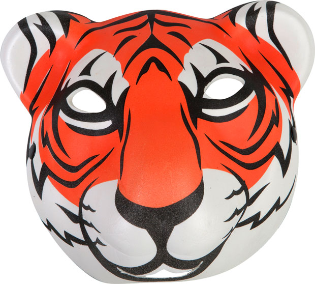 Foam Tiger Mask