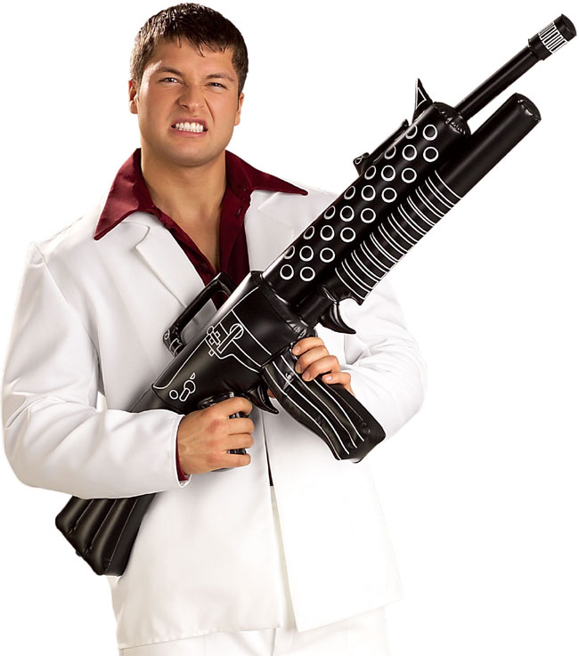 Inflatable Gangster Gun Costume Prop