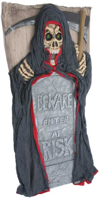 Grim Reaper Door Panel Halloween Prop