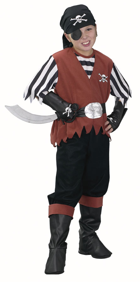 Child's Jolly Roger Pirate Costume