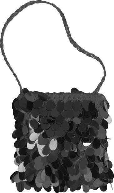 Woman's Black Flapper Purse