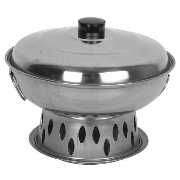 """9"""" Stainless Steel Chinese Chafing Dish"""