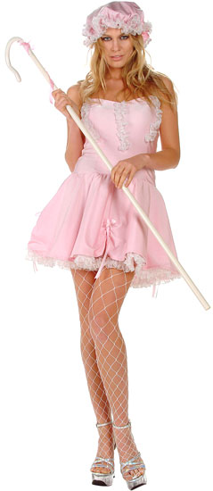 Sexy Pink Little Bo Peep Costume