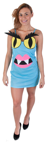 Women's Blue Monster Costume Dress