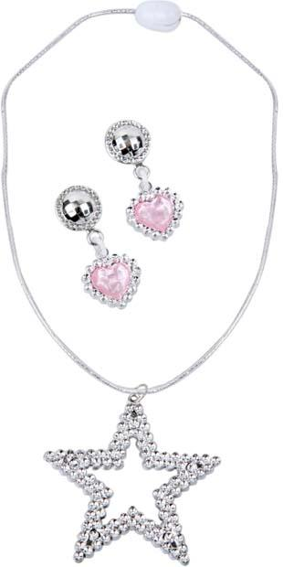 Child's Sharpay Costume Necklace and Earrings Set