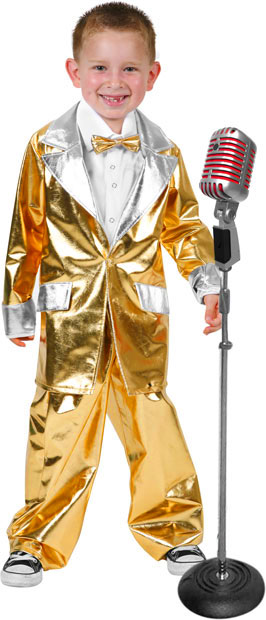 Child's Gold Lame 50's Suit Costume